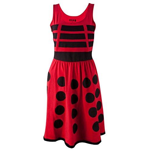 Doctor Who - rote Dalek Junioren a-Linie Kleid - (Dalek Kleid)
