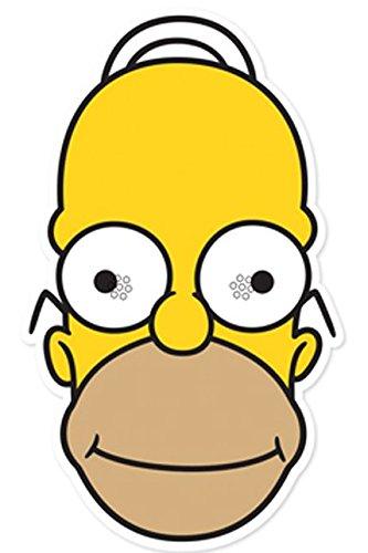 Star Cutouts Bedruckte Gesichtsmaske DER Homer Simpson (Maske Homer)