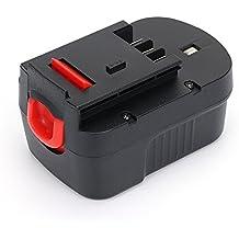 14.4V Batería de reemplazo - BLACK&DECKER 14.4V 3.0Ah Ni-Mh batería, BLACK&DECKER 14.4V 3.0Ah herramienta de batería sin cable, compatible BLACK&DECKER 14.4V Serie 499936-34 499936-35 A14 A144 A144EX A14F A1714 B-8316 BD1444L BPT1048 HPB14 Serie