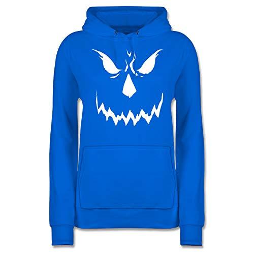 Shirtracer Halloween - Scary Smile Halloween Kostüm - M - Himmelblau - JH001F - Damen ()