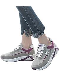 e44fb12aa2 Subfamily Maglie Scarpe Sportive da Donna Scarpe con Fondo Pesante B  Sneakers Stringate Colorblock Scarpe da