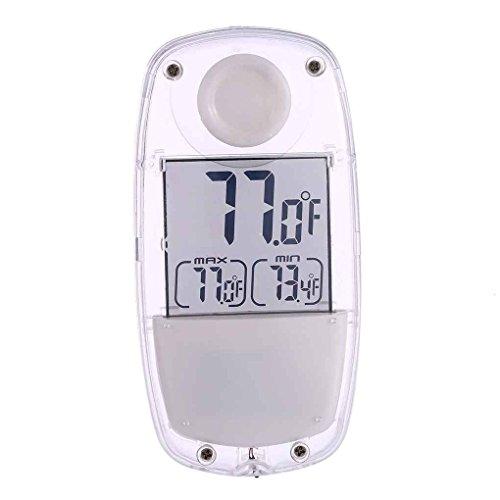 Fangfeen Digital LCD Ventosa del Tester di Temperatura della Stazione metereologica di energia Solare Termometro per Finestra