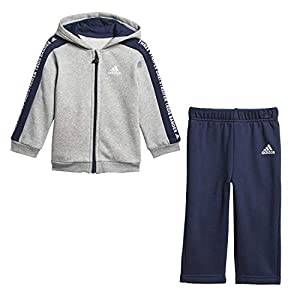 adidas Unisex Baby I 3 Stripes Full Zip Hooded Fleece Trainingsanzug