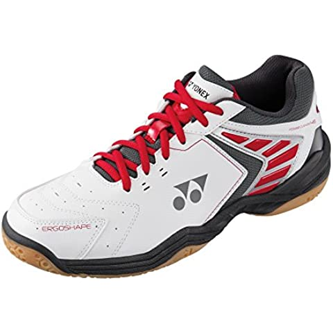 Yonex, Scarpe da Badminton uomo Bianco / Rosso 10