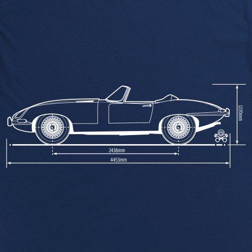 PistonHeads Jag X-KE 1961 Sports car T-Shirt, Damen Dunkelblau