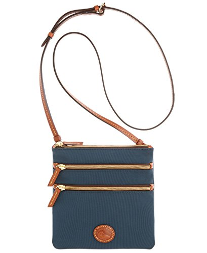 dooney-bourke-north-south-triple-zip-nylon-umhangetasche-blau-dunkelblau-grosse