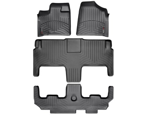 weathertech-custom-fit-floorliner-volkswagen-routan-2009-2012-complete-set-1st-2nd-3rd-row-black-by-