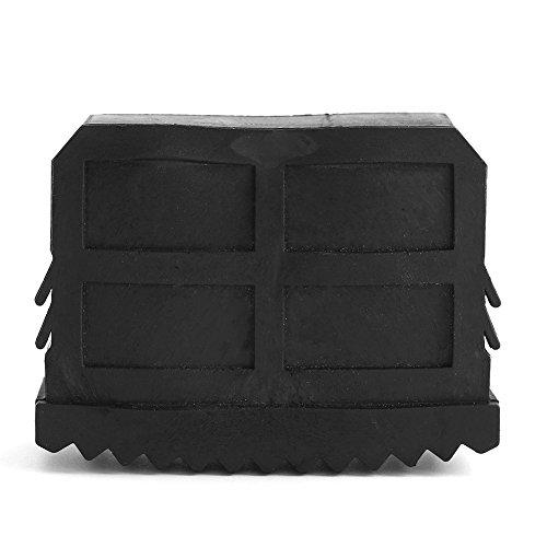 2 Stücke/1 Paar 6.3 x 2.4 x 3.6 cm schwarz Universal Gummi Fuß Box Gummifüße Kasten Rechteck Abdeckkappen für Leiter Füße Schrittleitern