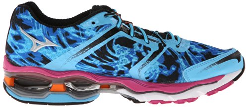 Mizuno Wave Creation 15 Synthétique Chaussure de Course - Blue/Pink/Orange