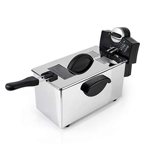 YFQH Kartoffelturm Maschine Pommes Frites Elektromechanische Fritteuse Kommerzielle Haushaltsdicke Fritteuse Bratmaschine Elektrische Fritteuse Einzylinder