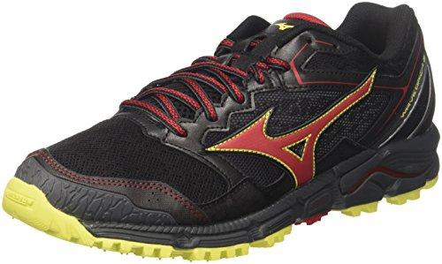 Mizuno wave daichi 3, scarpe da running uomo, nero (black/formulaone/flash), 45 eu