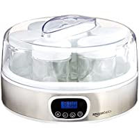 AmazonBasics Yoghurt Maker with Timer and 7 Jars