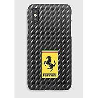 Carbon & Ferrari iPhone cas XS, XS Max, XR, X, 8, 8+, 7, 7+, 6S, 6, 6S+, 6+, 5C, 5, 5S, 5SE, 4S, 4,