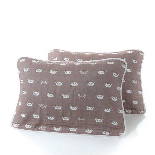 MangeooBaby Baby Badetuch Baumwolle multi-layer Gaze aus Baumwolle gaze Handtuch decke Bauch neugeborene versorgt, Kaffee Panda 52 * 78 cm Panda Versorgt