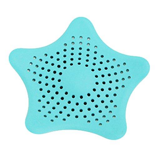 Stella plastica filtro per lavello bagno cucina rifiuti capelli filtro di scarico collettore di Blue