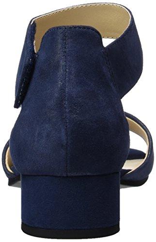Caprice 28212, Sandales Bout Ouvert Femme Bleu (Ocean Suede)