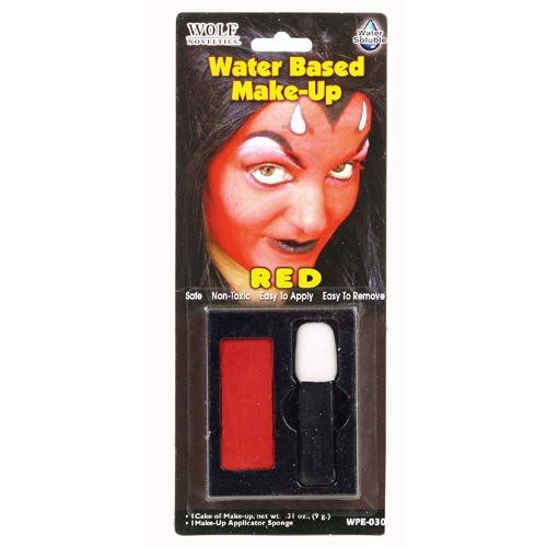 Wasser Activated Theater Make-Up Kit Teufel Rot (Teufel Make-up Rote)