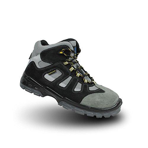 Ergos dakota businessschuhe chaussures de sécurité s1P sRC chaussures haut gris Gris - Gris