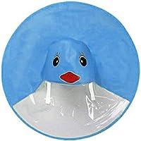 JYC Dibujos Animados Abrigos Pato Niña Niño Impermeable Capa Plegable Capa Mágico Manos Abrigos para La