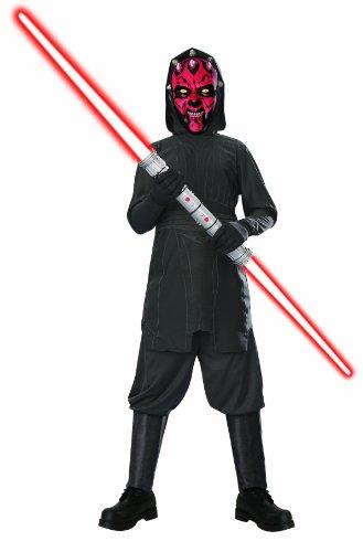 KULTFAKTOR GmbH Darth Maul Star Wars Lizenz-Kinderkostüm schwarz-rot 128/140 (8-10 Jahre)