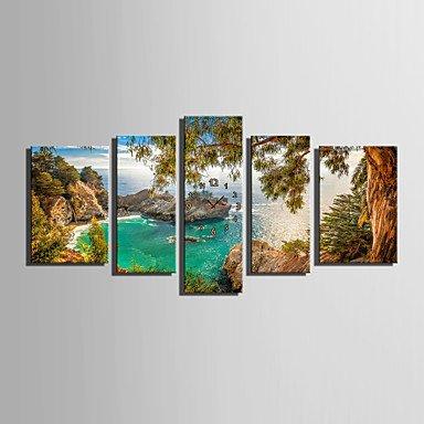 Y & M moderne/contemporain autres Horloge murale rectangulaire toile