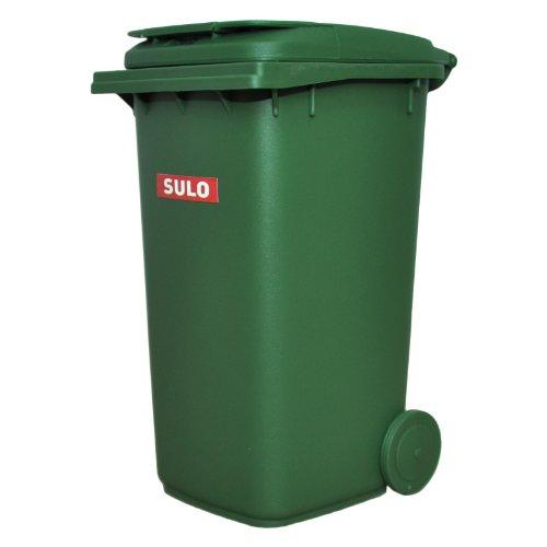 Mini-Mülltonne original SULO große Ausführung 240 Liter GRÜN Miniatur Behälter Aufbewahrung Tischmülleimer Stiftehalter Büro Spielzeug Sammlerstück -