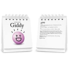 Fred The Daily Mood Desk Flipchart, The Ideal Desk Accessory and Gift, 47 Moods to Choose