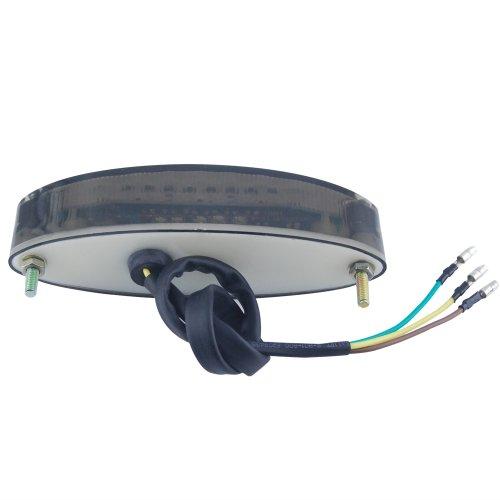 Tail LED universal posterior de la motocicleta Luz de parada freno nš²mero de placa