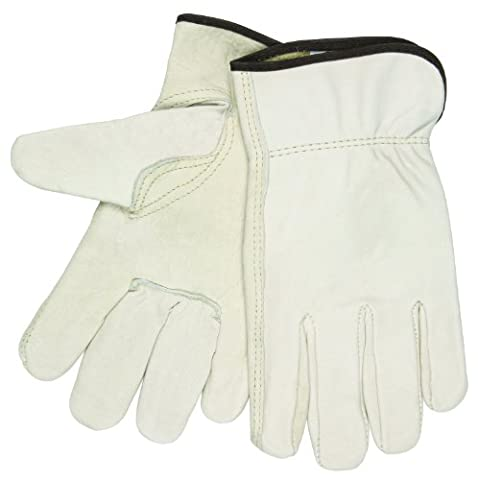 Full Leather Cow Grain Gloves, Extra Large, Sold as 1 Pair