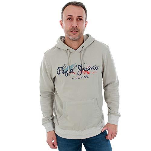 Pepe Jeans Sweatshirt Herren L Langarm Grau PM581152 Milton 904