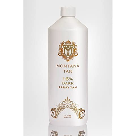 Montana Tan 16% di DHA scuro Spray Tan Solution. Falso