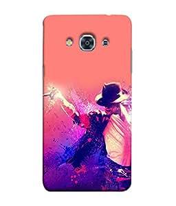 PrintVisa Designer Back Case Cover for Samsung Galaxy J3 Pro :: Samsung Galaxy J3 (2017) (The Dancing Star Artistic Design)