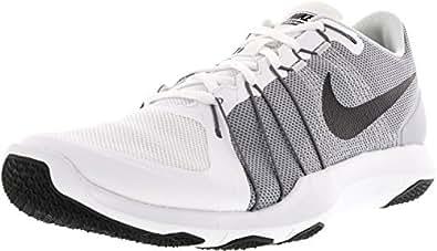 Nike Men's Flex Train Aver White and Grey Training Shoes (9 UK/India)