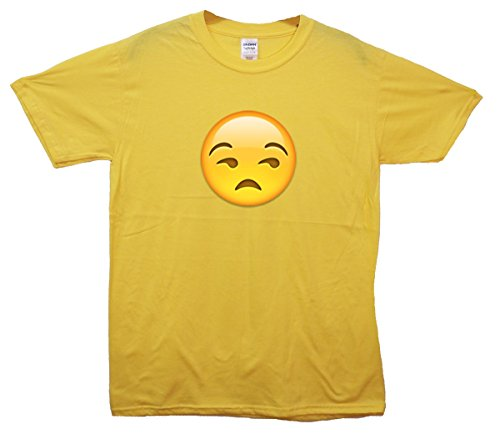 Unimpressed Face Emoji T-Shirt Gelb