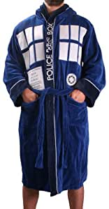 Doctor Who Tardis Adult Dressing Gown in a Gift Bag