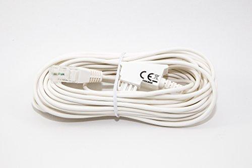 COXBOX 8m Weiss VDSL ADSL Kabel für den IP basierten DSL Anschluss TAE RJ45 VoiP Fritzbox Speedport