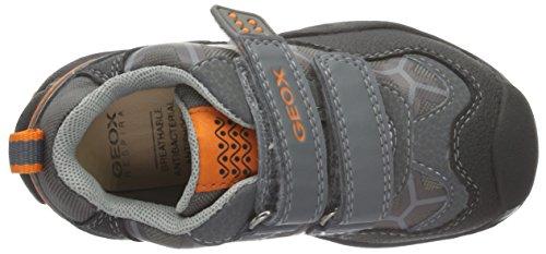 Geox J New Savage Boy B Jungen Sneakers Grau (Grey/ORANGEC0036)