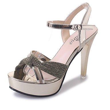 LvYuan Da donna-Sandali-Matrimonio Tempo libero Ufficio e lavoro Formale Casual-Con cinghia Club Shoes-A stiletto-Di pelle-Rosa Argento Dorato Silver