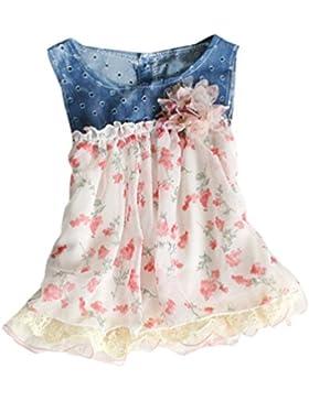 PJPYIF Niñas Sin Mangas de Vestidos de Chaleco Floral