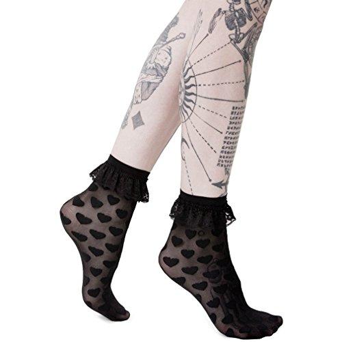 Snake Eyes Killstar X Marilyn Manson Socken Strümpfe Spitze Goth Okkult Punk