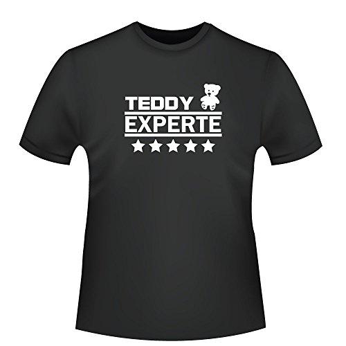 Teddy Experte, Herren T-Shirt - Fairtrade - ID104824 Schwarz