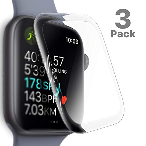 SLEO Panzerglas Schutzfolie für Apple Watch Series 4 40mm,9H Transparent Panzerglas Folie [HD-Klar] [Blasenfreie] [Kratzfest] für Apple Watch Series 4-3 Stück