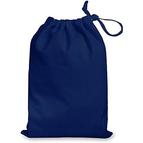 Azul marino mediano 100% algodón cordón 35x 25cm–Ideal para Bolsas de regalo, P.E. Gimnasio, nadar, Juguetes, zapatos, almacenamiento y