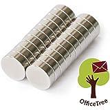 Office Tree® disques Mini Aimants néodyme de 20Aimants 8x 3mm rond–Extra forte adhérence sur les surfaces Tableau blanc de Board Tableau Verre Tableau blanc magnétique Réfrigérateur Métal Magnétique