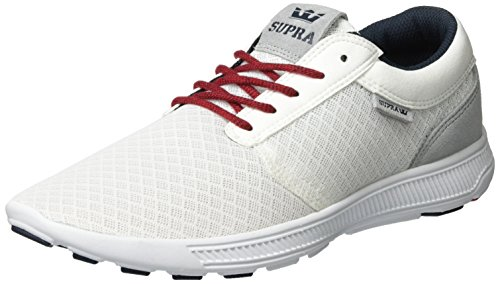 Supra Herren Hammer Run Low-Top Weiß (White/Red-White)