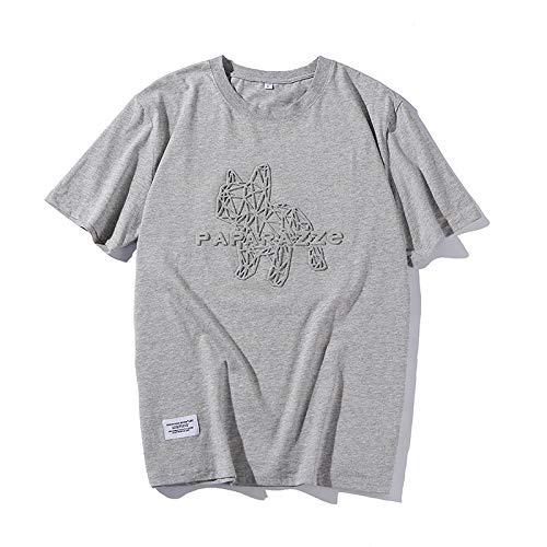 T-Shirt Frauen Sommer Baumwolle Kurzarm Paare Flut Modelle Männer und Frauen mit dem gleichen Absatz grau S