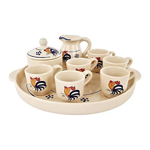 Servizio caffè 6 tazze vassoio lattiera zuccheriera - maioliche artigianali colì