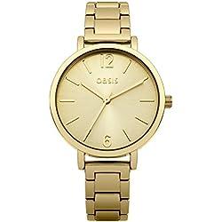 Oasis Damen-Armbanduhr Analog Quarz Edelstahl B1508