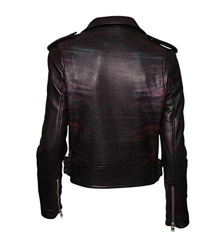 IRO Damen Lederjacke Gipsy Bikerjacke Jacke Leder – Leder – schwarz 01 black 42 - 2