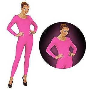 WIDMANN Neon Pink Body Einteiler Jumpsuit Sport Danza Disfraz Mujer, Color Rosa, tamaño Large/Extra-Large